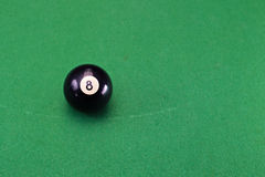 Snooker balls on green Royalty Free Stock Photo