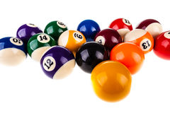 Snooker balls isolated Stock Images