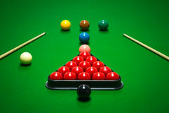 Snooker balls set Royalty Free Stock Photos