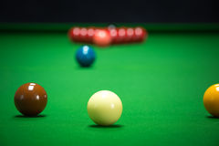 Snooker balls set Stock Photography