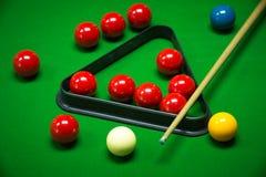 Snooker balls set Stock Photos