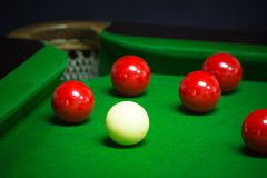 Snooker balls set Stock Images