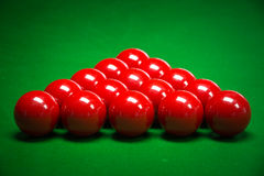 Snooker balls set Stock Photos