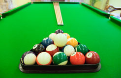 Snooker balls on table Stock Photography