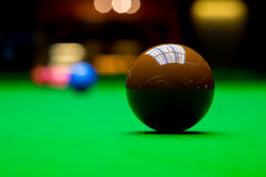 Snooker balls on table Stock Photo