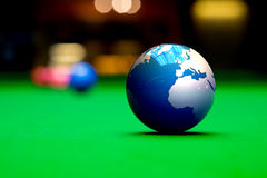 Snooker balls on table Stock Images