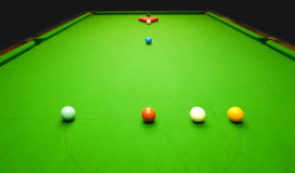 Snooker balls and table Royalty Free Stock Image