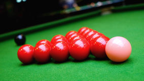 Snooker balls and table Royalty Free Stock Photography