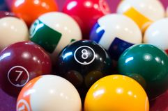 Snooker billiard balls. Close-up for snooker billiard balls Royalty Free Stock Images