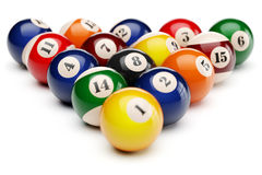 Snooker billiard balls pyramid Royalty Free Stock Photo