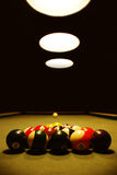 Snooker billiard table. With light Stock Photo