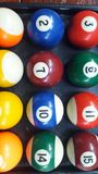 The snooker is a colorful group. Snooker is a colorful group ready to start the game Stock Images