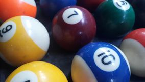 The snooker is a colorful group. Snooker is a colorful group ready to start the game Royalty Free Stock Photos