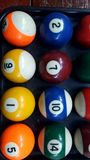 The snooker is a colorful group. Snooker is a colorful group ready to start the game Stock Photos