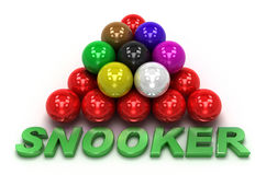 Snooker concept. Isolated on white Stock Photos