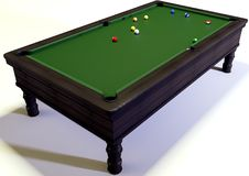 Snooker. A 3d illustration of a snooker Royalty Free Stock Photography