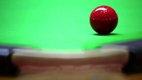 Snooker del tiro della miscela sulla rottura stock footage