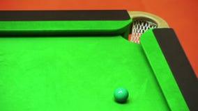 Snooker del tiro della miscela sulla rottura archivi video