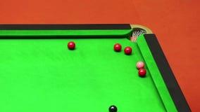 Snooker del tiro della miscela sulla rottura video d archivio