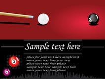 Snooker design. Flyer snooker design for competition vector illustration