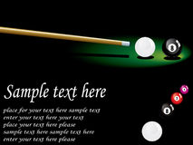 Snooker design. Flyer snooker design for competition Royalty Free Stock Photo