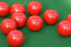 snooker di colore rosso delle sfere Fotografia Stock