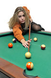 Snooker girl Royalty Free Stock Photos
