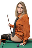 Snooker girl Stock Image