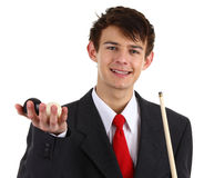 Snooker guy Royalty Free Stock Image