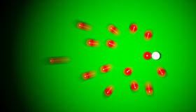 Snooker impact. Impact of balls on a snooker table Royalty Free Stock Photography