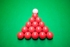 Snooker initial ball position Royalty Free Stock Photo