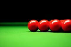 Snooker le sfere Fotografie Stock Libere da Diritti
