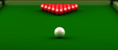 Snooker-Nahaufnahme Lizenzfreie Stockfotos