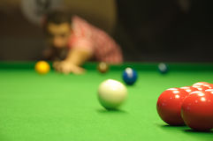 Snooker opening shot Royalty Free Stock Photography