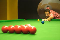 Snooker opening shot Royalty Free Stock Images