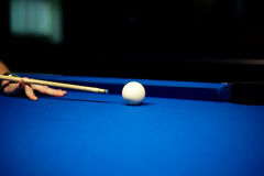 Snooker player. Play in billiards stock photography