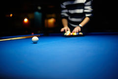 Snooker player Stock Photography