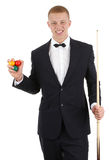 Snooker player Stock Image