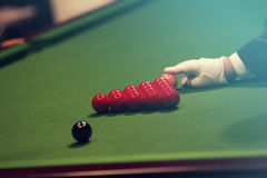 Snooker player royalty free stock photos