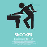 Snooker Player. Sign Vector Illustration Royalty Free Stock Photos