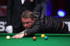Snooker player, Stephen Hendry Royalty Free Stock Photos