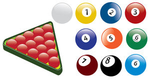 Snooker and pool ball. A snooker ball and pool ball Royalty Free Stock Photography