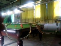 Snooker przez szkła Obraz Stock