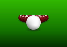 Snooker Pyramid Balls Stock Photo