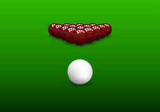Snooker Pyramid Balls Royalty Free Stock Photo