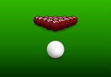 Snooker Pyramid Balls Royalty Free Stock Photo