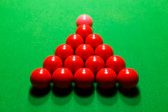 Snooker red ball on a billiard table Stock Image