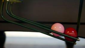 Snooker roze en rode ballen royalty-vrije stock foto