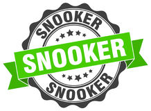 Snooker seal. Snooker round ribbon seal isolated on white background Royalty Free Stock Photos