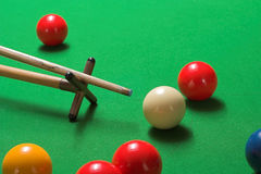 Snooker shot on a rest Royalty Free Stock Photos